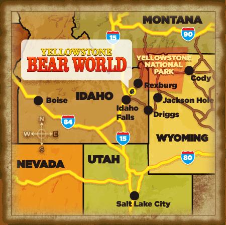 Map Information Yellowstone Bear World