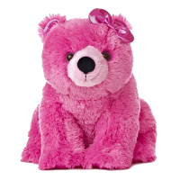 stuffed animal pink polar bear