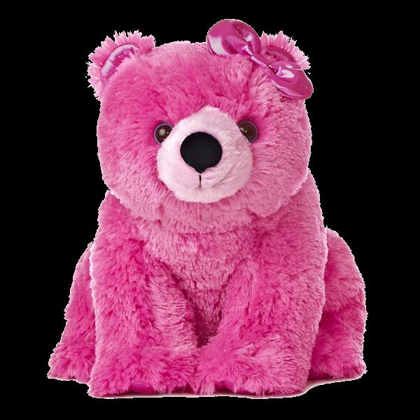 stuffed animal pink polar bear