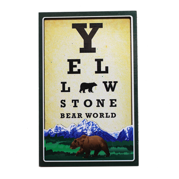 Eye Chart Magnet Yellowstone Bear World