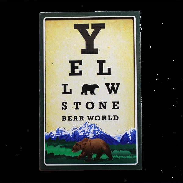 Eye Chart Magnet Yellowstone Bear World