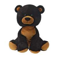Sitting black bear plush fiesta 16 inches