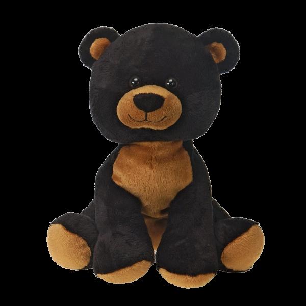 Sitting black bear plush fiesta 16 inches