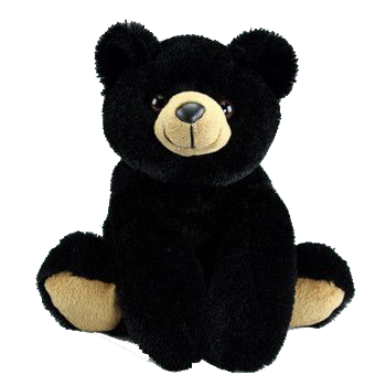 black bear 16 inch plush braden