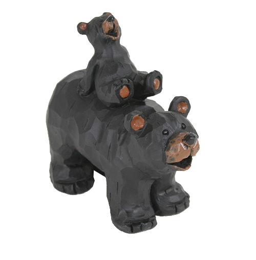 Bear Cub Piggyback figurine