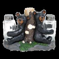 carved bear salt and pepper shaker set