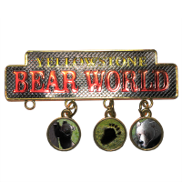 dangle charm magnet Yellowstone Bear World logo