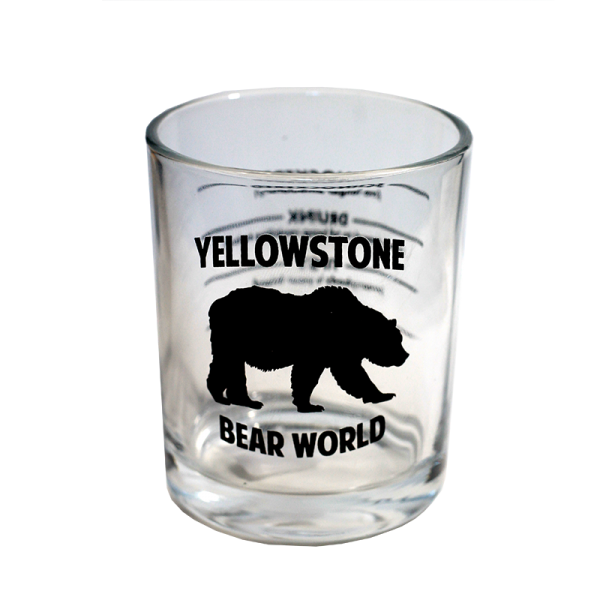 giant shot glass yellowstone bear world