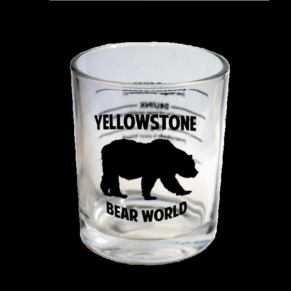 giant shot glass yellowstone bear world