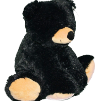 loveable black bear plush toy - liquorice - wishpets