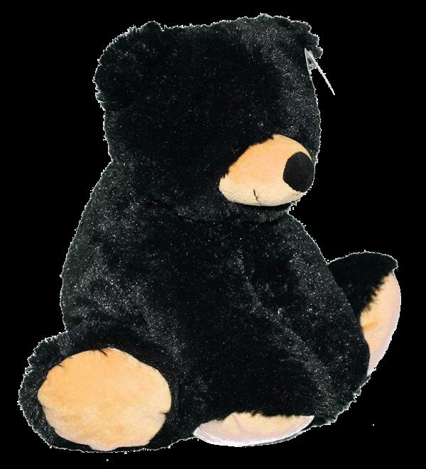 loveable black bear plush toy - liquorice - wishpets