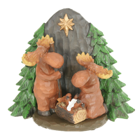 moose nativity christmas decoration