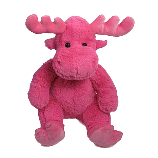 pink moose plush toy wishpets