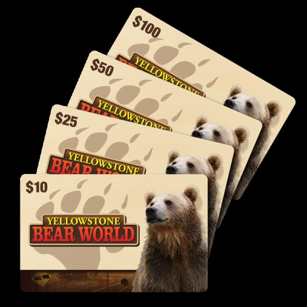 Yellowstone Bear World Gift Card